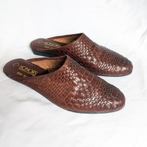 Vintage Genuine Leather Braided Mules